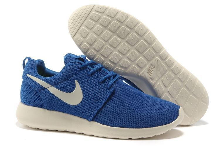 Nike Roshe Run Mesh Mens Trainers Blue White