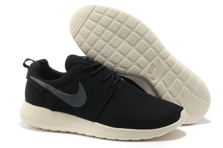 Nike Roshe Run Mesh Mens Trainers Coal Black Charcoal