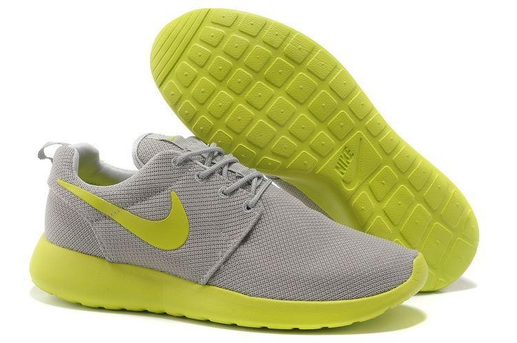 Nike Roshe Run Mesh Mens Trainers Gray Apple Green