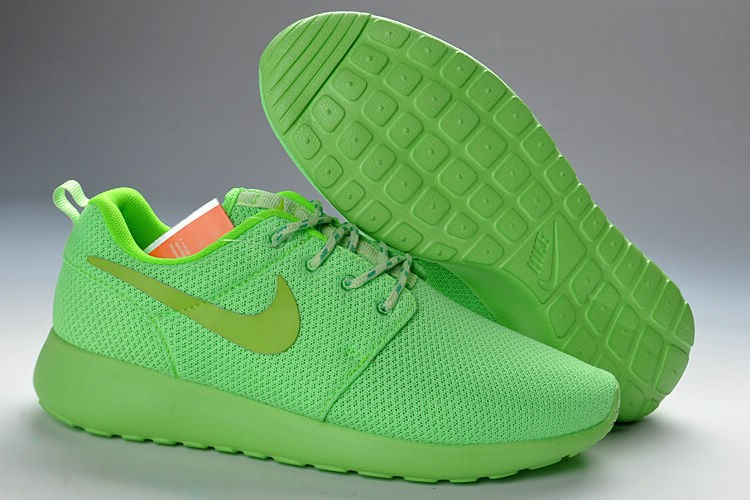 Nike Roshe Run Mesh Womens Trainers Fluorescent Green