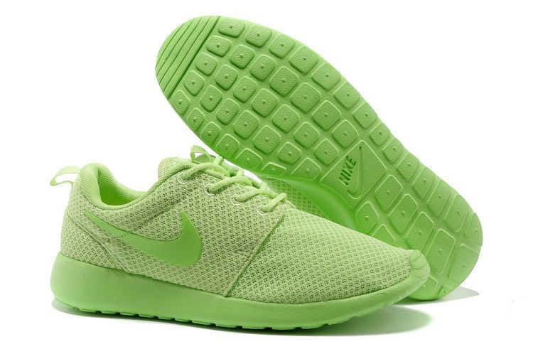 Nike Roshe Run Mesh Womens Trainers Green