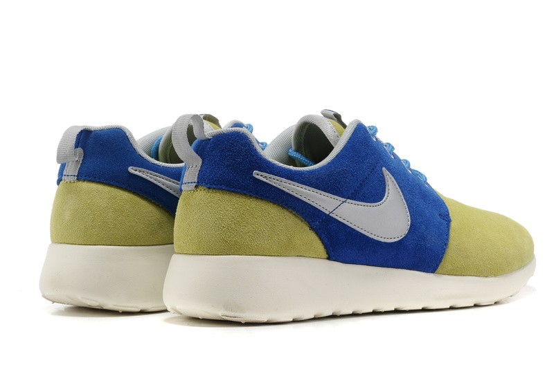 Nike Roshe Run Suede Mens Running Shoes Wheat Blue