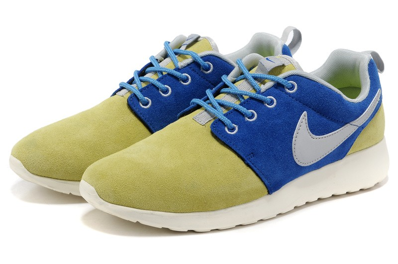 Nike Roshe Run Suede Womens Running Shoes Wheat Blue
