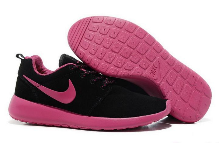 Nike Roshe Run Womens Running Shoes Black Pink