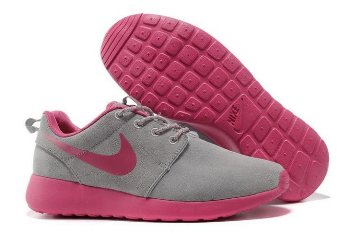 Nike Roshe Run Womens Running Shoes Gray Pink