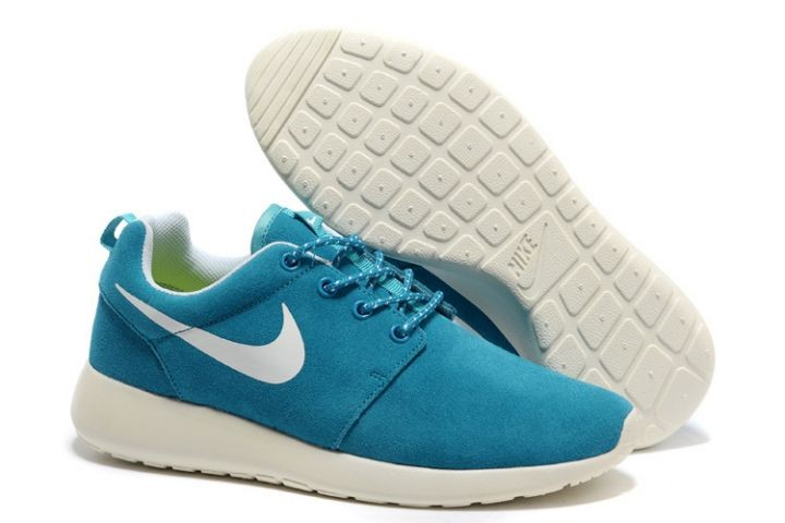 Nike Roshe Run Womens Running Shoes Mint Blue White