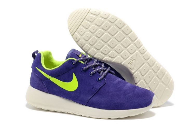 Nike Roshe Run Womens Running Shoes Purple White Green