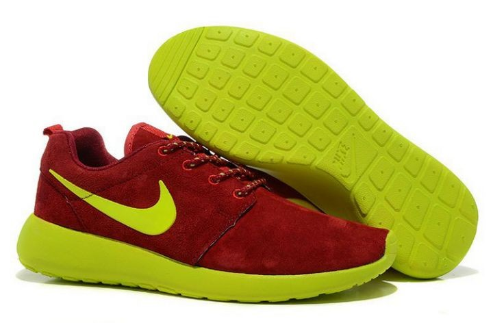 Nike Roshe Run Womens Running Shoes Red Green
