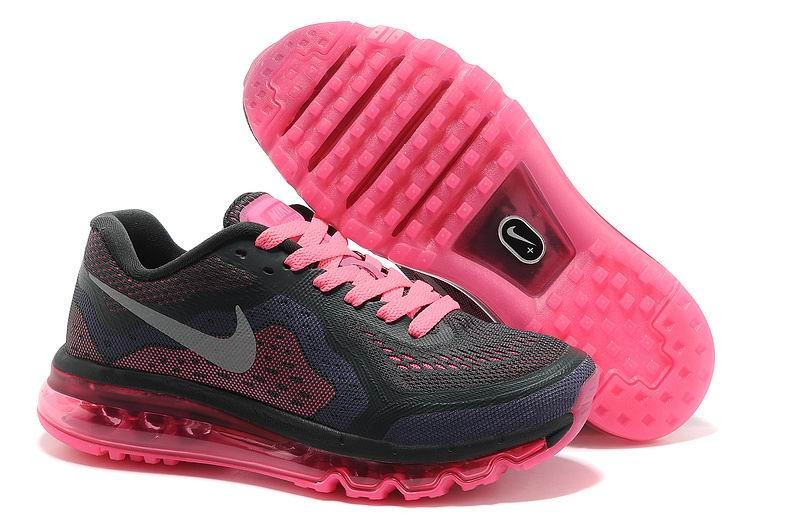Womens Nike Air Max 2014 Running Shoes Black Neon Pink