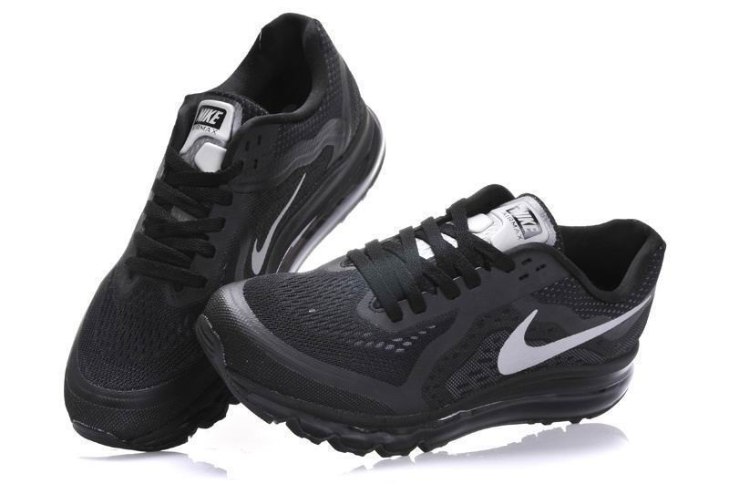 Womens Nike Air Max 2014 Running Shoes Black Silver