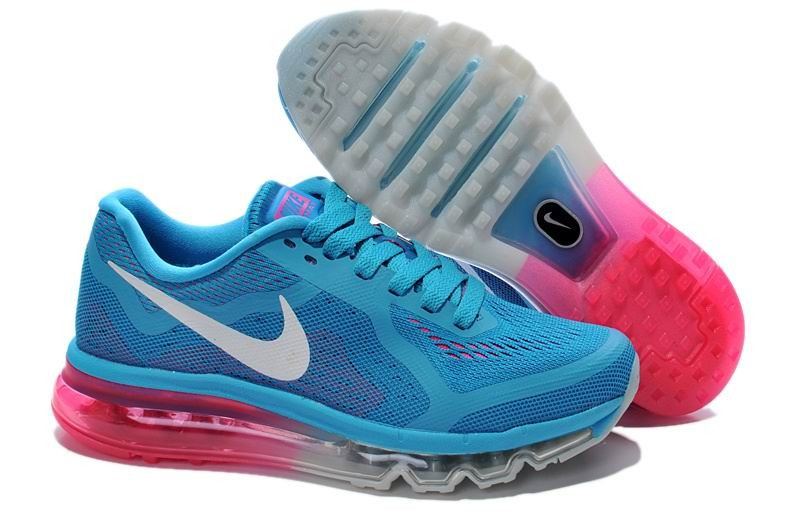 Womens Nike Air Max 2014 Running Shoes Blue Pink Grey