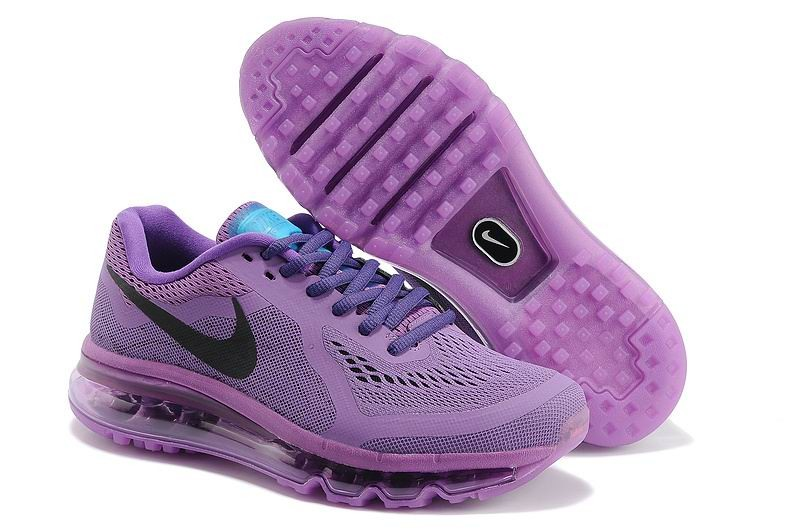 Womens Nike Air Max 2014 Running Shoes Fuchsia Purple Black