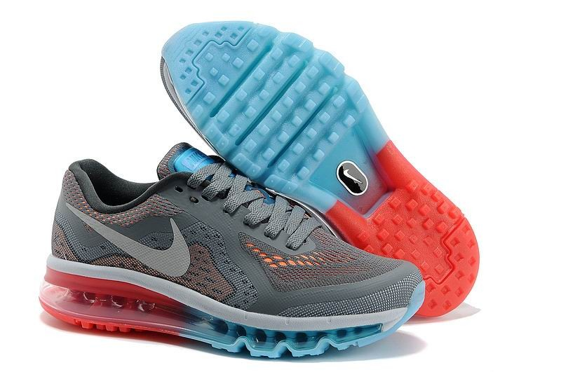 Womens Nike Air Max 2014 Running Shoes Grey Orange Jade