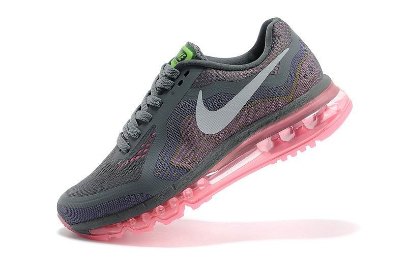 Womens Nike Air Max 2014 Running Shoes Grey Pink Purple