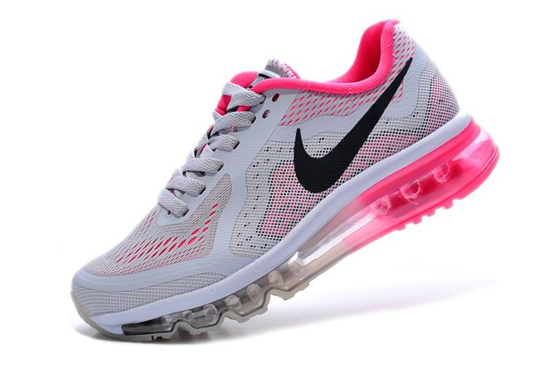 Womens Nike Air Max 2014 Running Shoes Grey Red Plum Black