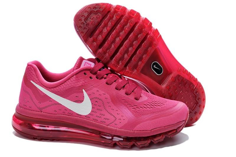 Womens Nike Air Max 2014 Running Shoes Hot Red