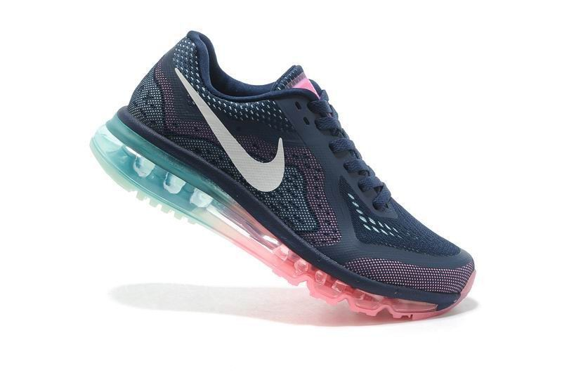 Womens Nike Air Max 2014 Running Shoes Midnight Navy Sail Pink Glow