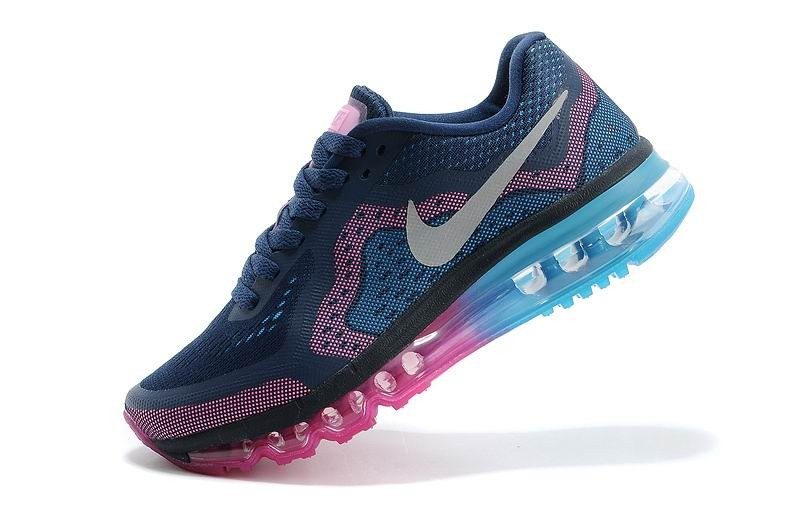 Womens Nike Air Max 2014 Running Shoes Navy Blue Pink Blue