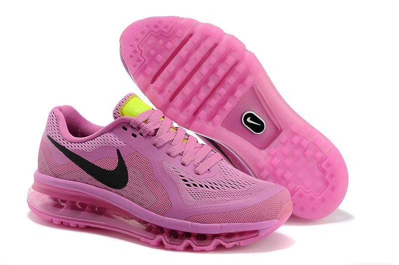 Womens Nike Air Max 2014 Running Shoes Pink Black