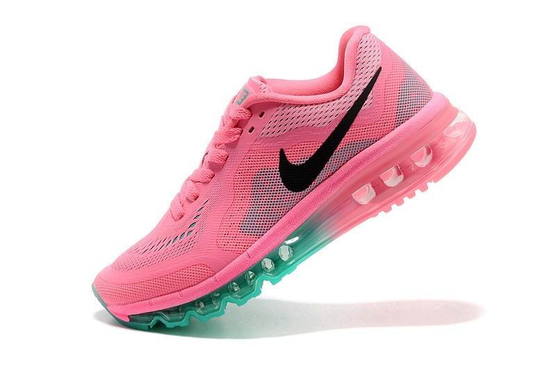 Womens Nike Air Max 2014 Running Shoes Pink Blue