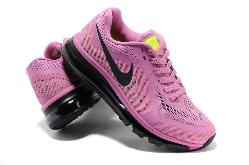 Womens Nike Air Max 2014 Running Shoes Pink Purple Black
