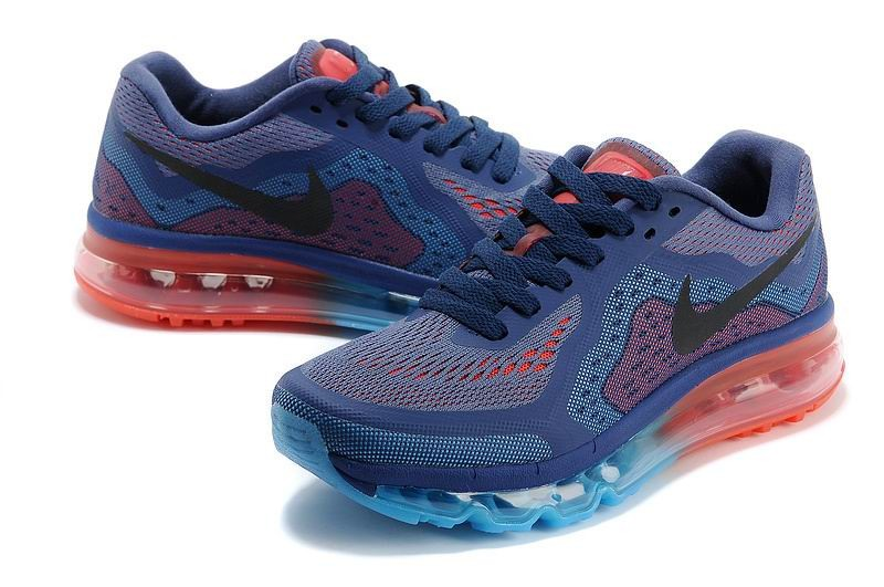 Womens Nike Air Max 2014 Running Shoes Purple Blue Red