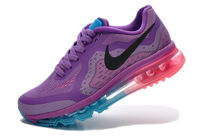 Womens Nike Air Max 2014 Running Shoes Purple Jade Pink