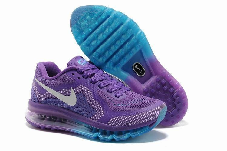 Womens Nike Air Max 2014 Running Shoes Purple Jade