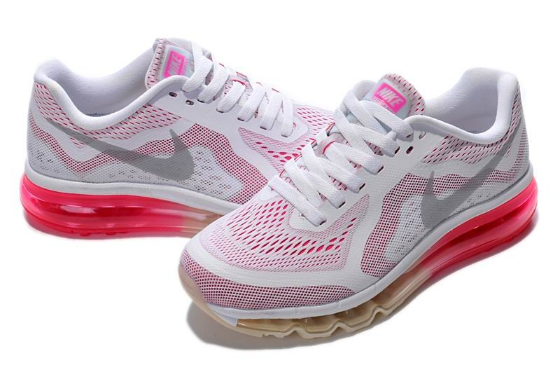 Womens Nike Air Max 2014 Running Shoes White Pink