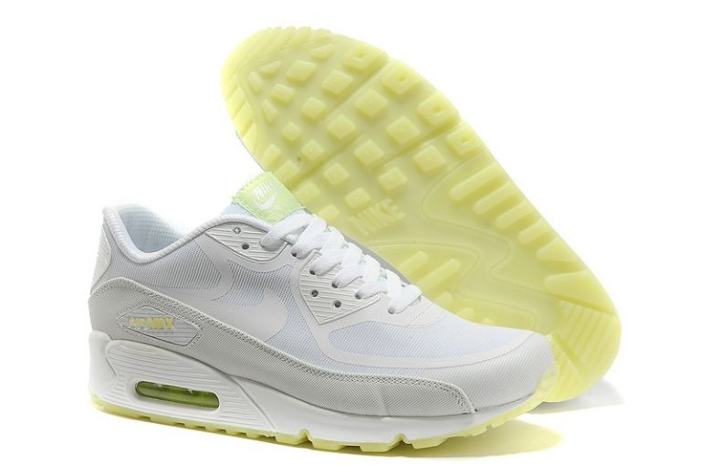 Womens Nike Air Max 90 Premium Tape Runinng Shoes Glow In The Dark