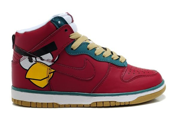 "Womens Nike Dunk SB High Shoes ""Angry Birds"" Red"