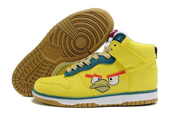 "Womens Nike Dunk SB High Shoes ""Angry Birds"" Yellow"