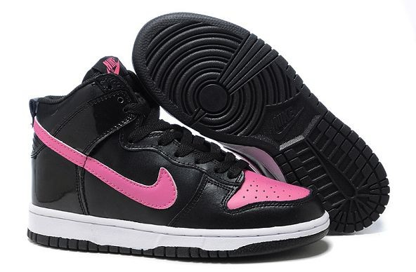 Womens Nike Dunk SB High Shoes Black Purple