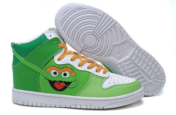 Womens Nike Dunk SB High Shoes Oscar the Grouch