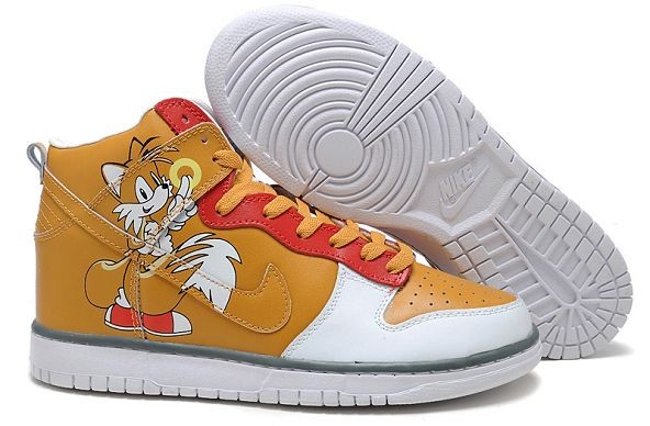 Womens Nike Dunk SB High Shoes Sega Sonic Hedgehog Yellow