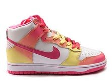 Womens Nike Dunk SB High Shoes White Red Pink