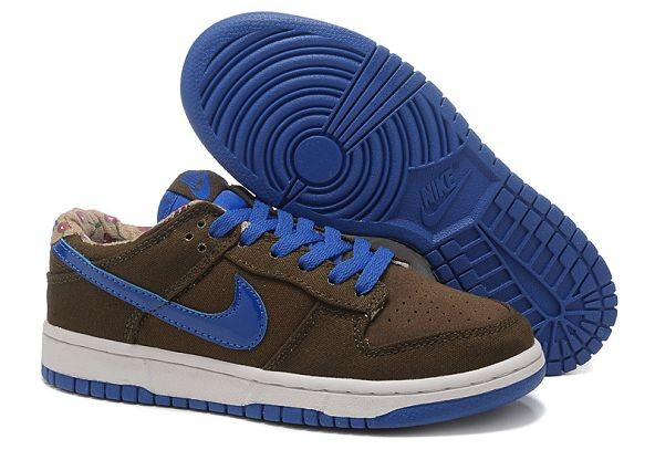 Womens Nike Dunk SB Low Shoes Dark Loden Varsity Royal Sand