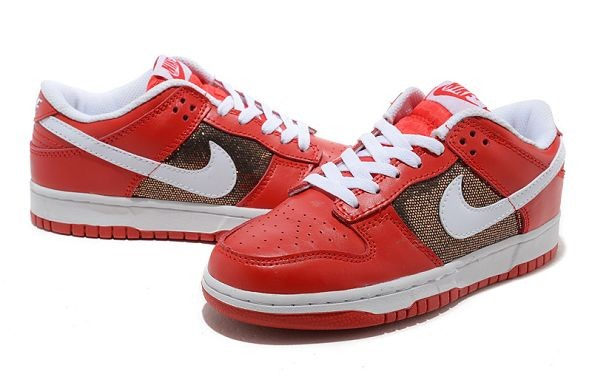 Womens Nike Dunk SB Low Shoes Red White