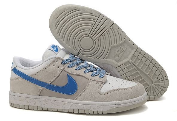 Womens Nike Dunk SB Low Shoes White Grey Royal