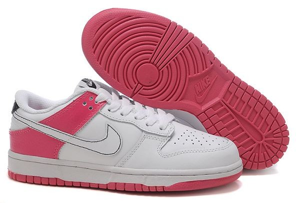 Womens Nike Dunk SB Low Shoes White Pink Black