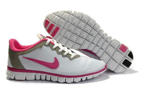 Womens Nike Free 3.0 V2 White Pink Running Shoes