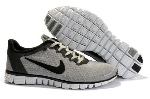 Womens Nike Free 3.0 V2 Wolf Grey Black Running Shoes