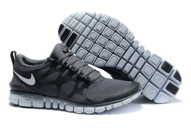 Womens Nike Free 3.0 V3 Charcoal Grey/White Running Shoes