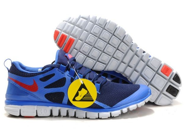 Womens Nike Free 3.0 V3 Obsidian/Royal-Team Orange Running Shoes