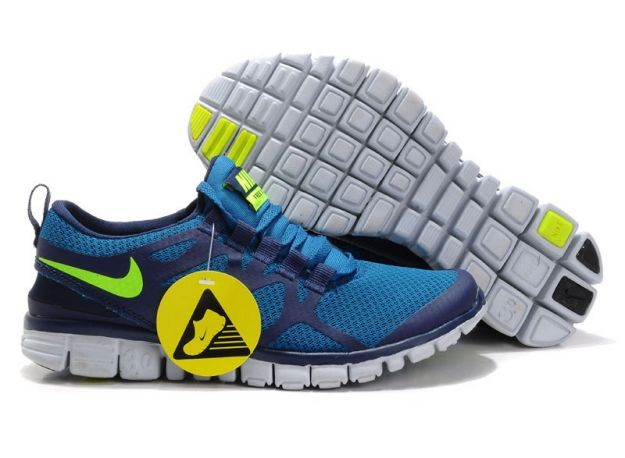 Womens Nike Free 3.0 V3 Royal/Dark Blue-Volt Running Shoes