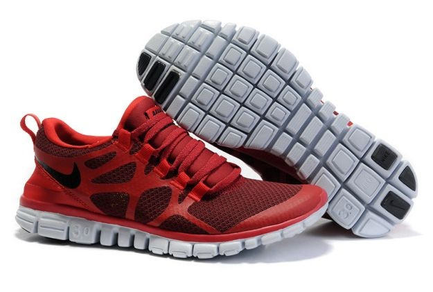 Womens Nike Free 3.0 V3 Wine/Gym Red Running Shoes