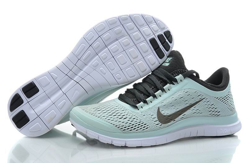 Womens Nike Free 3.0 V5 Light Blue Grey Running Shoes
