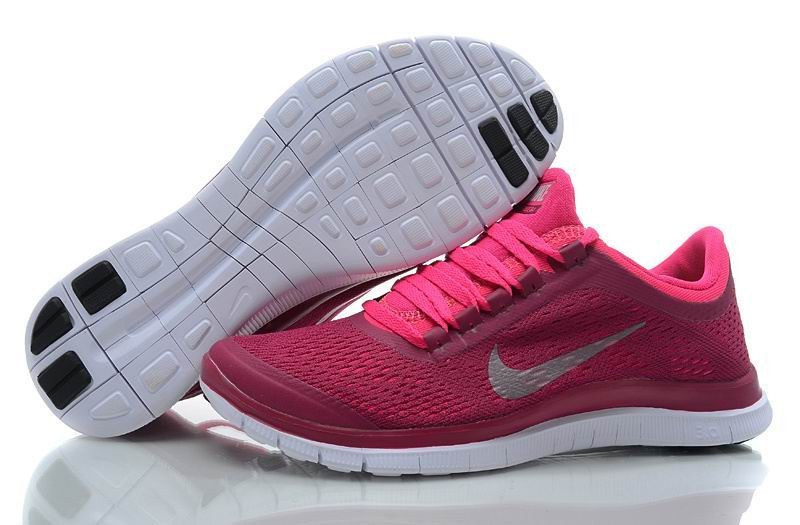 Womens Nike Free 3.0 V5 Pink White Running Shoes