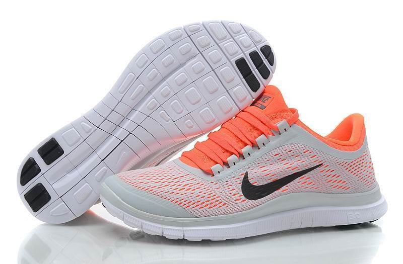 Womens Nike Free 3.0 V5 Plat Grey Crim Running Shoes