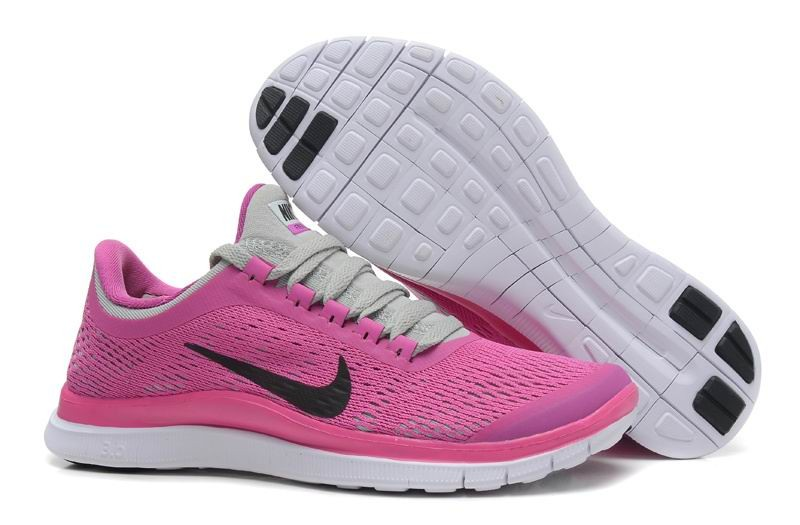 Womens Nike Free 3.0 V5 Purple Red Grey Running Shoes